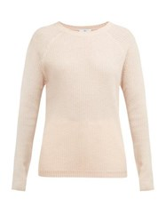 Allude Ribbed Fine Knit Cashmere Sweater Cream