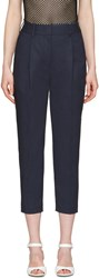 3.1 Phillip Lim Navy Tailored Carrot Trousers
