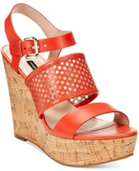 French Connection Devi Platform Wedge Sandals Women's Shoes Lava