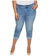 Lucky Brand Plus Size Emma Crop Jeans In Blue Palms Blue Palms Women's Jeans Navy