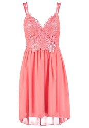 Lipsy Cocktail Dress Party Dress Coral Apricot
