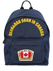 Dsquared Canada Nylon Canvas Backpack Navy