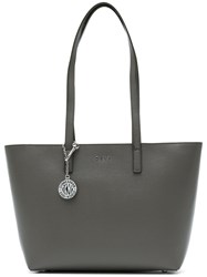 Donna Karan Medium Shopper Bag Calf Leather Grey