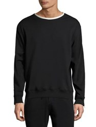 3.1 Phillip Lim Long Sleeves Cotton Sweatshirt Black
