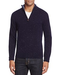 Bloomingdale's The Men's Store At Donegal Half Zip Cashmere Sweater Navy Blue Multi