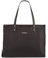 Giani Bernini Nylon Foldable Packacble Tote Only At Macy's Black