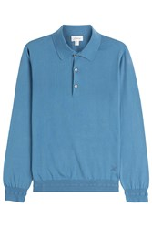 Brioni Cotton Pullover With Buttons Blue