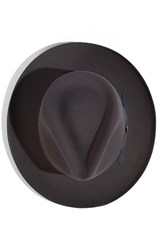 Men's Stetson 'Runabout' Royal Quality Packable Felt Fedora Grey Caribou