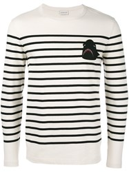 Moncler Shark Patch Jumper Nude Neutrals