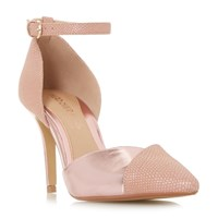 Head Over Heels Cersey Pointed Toe Two Part Court Shoes Pink