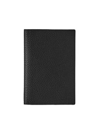 Reiss Parsons Mens Leather Passport Holder In Black