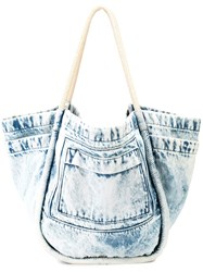 Proenza Schouler Light Acid Denim L Tote