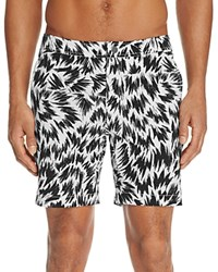 Onia Calder Flash Print Swim Trunks 100 Exclusive White Black