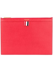 Thom Browne Small Zipped Tablet Holder Red