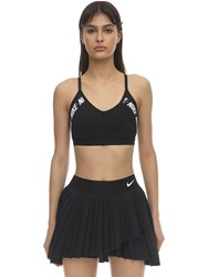 Nike Light Support Logo Sports Bra Black