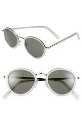 Women's Cole Haan 48Mm Round Sunglasses Crystal