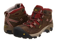Keen Utility Detroit Mid Black Olive Madder Brown Women's Work Boots