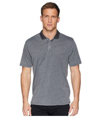 True Grit Bowery Burnouts Vintage Washed Short Sleeve Polo Coal Short Sleeve Pullover Gray