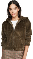 Cupcakes And Cashmere Breda Faux Fur Bomber Army