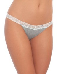 Design Lab Lord And Taylor Lace Trim Thong Heather Grey