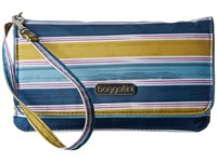Baggallini Rfid Flap Wristlet Tropical Stripe Wristlet Handbags Navy