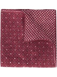 Brunello Cucinelli Dot Pattern Pocket Square Red