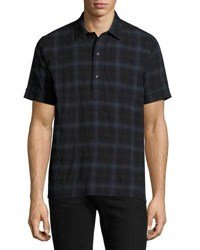Ovadia And Sons Plaid Short Sleeve Shirt Blue Blue Plaid