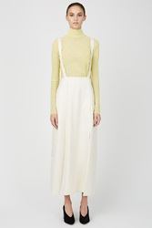 Ryan Roche Suspender Skirt Winter White