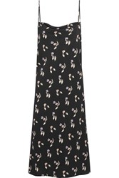Opening Ceremony Printed Crepe Dress Black