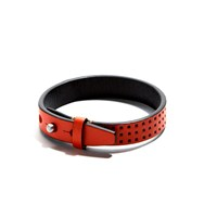 Jam Mmxiv Orange Perforated Leather Bracelet Yellow Orange