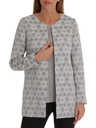 Betty And Co. Tapestry Weave Jacket Grey Cream