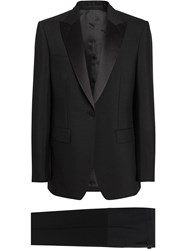 Burberry English Fit Mohair Wool Tuxedo Black