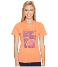 Life Is Good Ride On Bike Cool Tee Tropical Orange Women's T Shirt Black