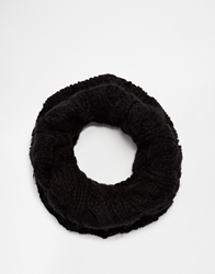 Selected Cable Infinity Scarf Black