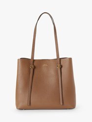 Ralph Lauren Polo Lennox Leather Tote Bag Saddle