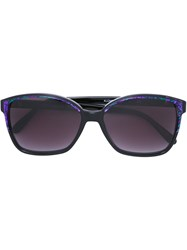Yves Saint Laurent Vintage Marbled Effect Sunglasses Pink And Purple