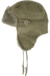 Ugg Bailey Shearling Trapper Hat Green