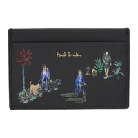 Paul Smith Black London Parks Card Holder Pr Printed