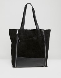 Urbancode Shopper With Double Zip Detail Black