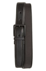 Cole Haan Reversible Nylon Inlay Leather Belt Black