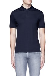Armani Collezioni Slim Fit Cotton Jersey Polo Shirt Blue