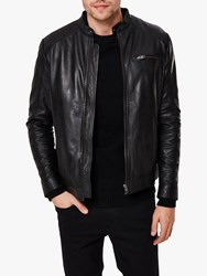 Selected Homme Classic Leather Jacket Black