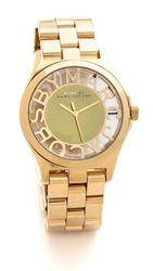 Marc By Marc Jacobs Henry Skeleton Watch Gold