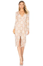 For Love And Lemons Metz Midi Dress Tan