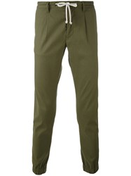 Paolo Pecora Elasticated Cuffs Skinny Trousers Men Cotton Linen Flax Spandex Elastane 52 Green