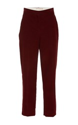 Brock Collection Teddy Cropped Corduroy Trouser Red