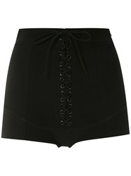 Spacenk Nk Lace Up Shorts Black