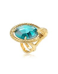 Just Cavalli Queen Crystal Golden Ring