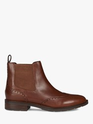 Geox 'S Bettanie Leather Chelsea Ankle Boots Brown