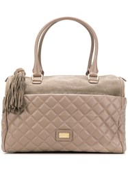 Moschino Cheap And Chic Quilted Tote Bag Brown